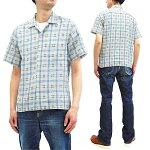 シュガーケーン半袖シャツSC38456東洋エンタープライズメンズドビーチェックオープンシャツ新品SugarCaneMen'sDobbyPlaidShortSleeveCasualButtonUpCheckedShirtSC38456FictionRomanceCollectionToyoEnterprisesMadeinJapan