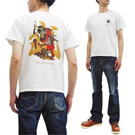 サムライジーンズ Tシャツ SJST20-102 和柄 武者絵 Samurai Jeans メンズ 半袖tee オフ白 新品