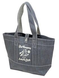 テッドマン デニム トートバッグ TDBG-1000 TEDMAN エフ商会 メンズ 鞄 グレー×アイボリー 新品