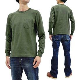 ホワイツビル 無地 長袖Tシャツ WV67732 東洋エンタープライズ メンズ ポケット付き ロンtee オリーブ 新品
