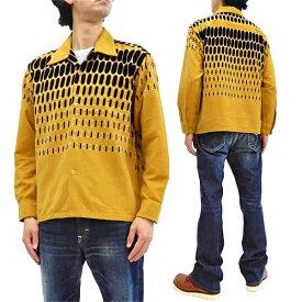 スタイルアイズ コーデュロイ スポーツシャツ SE28532 ELVIS DOTS 東洋エンタープライズ メンズ 長袖シャツ 157マスタード 新品
