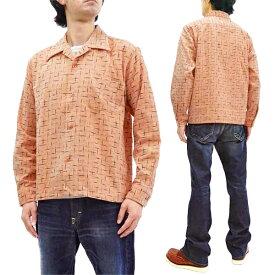 スタイルアイズ コーデュロイ スポーツシャツ SE28536 絣柄 東洋エンタープライズ メンズ 長袖シャツ 162ピンク 新品