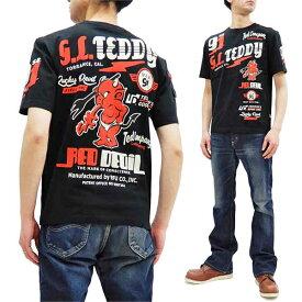 テッドマン Tシャツ TDSS-533 TEDMAN モータースポーツ柄 エフ商会 メンズ 半袖tee ブラック 新品