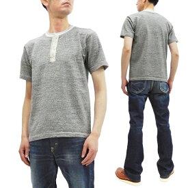 バズリクソンズ Tシャツ BR78770 メンズ 無地 ヘンリーネック スラブ 半袖Tシャツ ヘザーグレー 新品