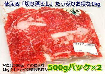 石垣牛・切り落とし(細切れ)約1kg入り冷凍便・送料無料 【smtb-MS】