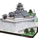 高知城 A4サイズ 城郭模型 ジオラマ風 日本の名城シリーズ1/300 NO35(ゆうメール発送/代引き未対応)