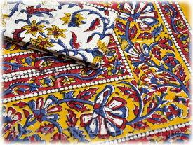 マルチカバー ブロックプリント インド 更紗 シングルサイズ CBC-0323