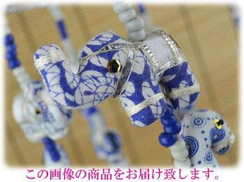 【インド雑貨/アジア雑貨】小さなぬいぐるみがぐるりと連なる・動物の吊るし飾り・円形フレームL・No.1002