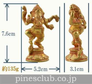 【インド直輸入】真鍮製のガネーシャ/ダンシング/MBO-005/ガナパティ/大聖歓喜天/ヒンドゥー教/インド雑貨/アジアン雑貨/エスニック