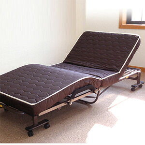 【送料無料】低反発ダブルリクライニング電動ベッド DE-90-T10 ブラウン [折りたたみ式 収納式 電動ベッド ダブルリクライニングベッド]