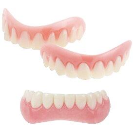 【正規品】 インスタントスマイル 上下セット [上歯と下歯のセット 付け歯 抜けた歯をカバー デンタルケア 義歯 仮歯 男女兼用 ティース トゥース すきっ歯]