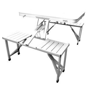 折りたたみテーブル アウトドア レジャー 4人掛け 【送料無料】【折り畳み式ガーデンテーブル&チェアー PC1135】 ガーデンテーブル チェア セット