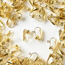 イヤリングパーツ クリップ式 ゴールド はさむだけタイプ 20個 アクセサリーパーツ 材料 素材