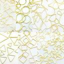 フレームパーツ ゴールド オールmix 全21種類各10個(計210個) 全タイプ全サイズ レジンクラフト 型 枠 チャーム ピア…