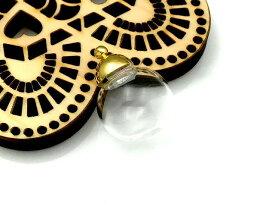 ガラスドーム ミニサイズ キャップ3色 ゴールド 同色の丸カンセット レジン ネックレス ペンダント アクセサリーパーツ 材料 素材