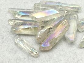 天然水晶 クリスタル ほんのりオーロラタイプ 60g 通し穴付き レジン 封入 さざれ石 オルゴナイト 【大容量版】
