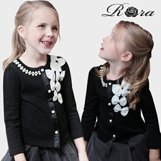 Rora Sicily Cardigan formal bows cute pearls embellished girls children fashion clothing