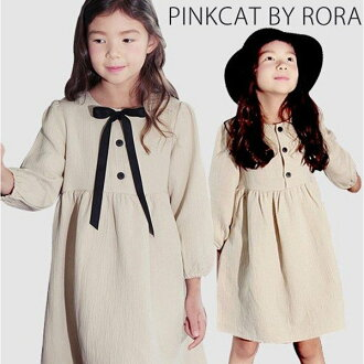 Child clothes of the softly feeling children's clothes Rora classical music dress (broach) long sleeves dress natural dress adult-like children's clothes kids fashion woman with the adult-like elegance