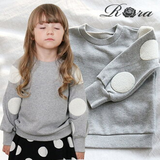 Rora Lea Sweat Shirt in Black & Gray with Pretty Fashion Sleeves 90cm 100cm 110cm 120cm 130cm 140cm Casual/Natural (baby elementary girls children's clothing)