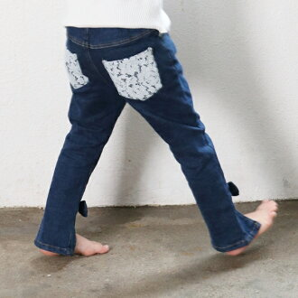 Fashion race ribbon kids clothes 90 100 110 120 130 140cm that child cotton Kinney adult of the pretty woman is children's clothes Rora Emma's Kinney denim underwear stretch denim kids Kinney denim bottoms children's clothes-like
