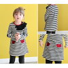 Rora Mark J Border Dress fall winter long sleeved striped frill pocket dress  90cm 100cm 110cm 120cm 130cm 140cm children's clothes