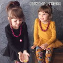 AB63【Rora アート チュニックワンピース(ネックレスセット)(2color)】スカラップ風フリルが大人可愛いチュニックワンピース♪
