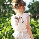 [予約] ポイント10倍 子供服Rora カーレン ノースリーブ トップス (リボンブローチセット) 女の子 夏服 tシャツ ブラ…