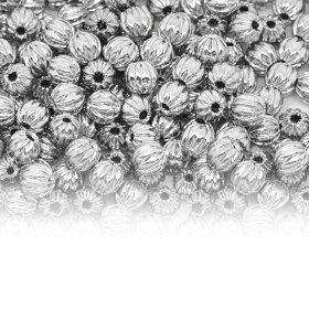 【メール便A】ハンドメイド用品銅メタルビーズストライプシルバー(10個入り)/びーず,つなぎ金具,キーホルダー,ストラップ,輪っか,留め金具,パーツ,スペーサー