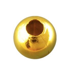 メタルビーズ10mm穴3.8mm金メッキ/合金金属スペーサー手作り玉球金色ゴールドカラーボールハンドメイド材料【ゆうパケット対応】