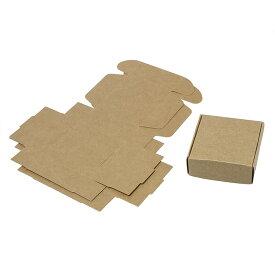 75mm×75mm 3枚入 ギフトボックス 組み立て式 ナチュラル / 箱 小箱 クラフトボックス アクセサリーボックス box ラッピング 材料 備品 プレゼント 包装 ブラウン ナチュラル【ゆうパケット対応】