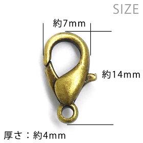 カニカン金メッキ約14×7mm(10個入)【ゆうパケット対応】