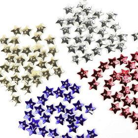 12mm×13mm20個入樹脂ボタンスターメタリックカラーシルバー/銀星Xmasクリスマス小さめシンプル手芸縫製ぼたん二つ穴ハンドメイド材料【ゆうパケット対応】