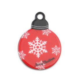 2個入約33mm×24mm×2.4mmアクリルカボション赤いクリスマスボール/xmasクリスマスオーナメント装飾アクリルパーツ貼り付けパーツ埋め込み素材デコパーツセッティングパーツ装飾パーツアクセサリーパーツハンドメイド材料【ゆうパケット対応】