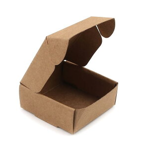 約50×50×20mm 5枚入 ギフトボックス 正方形 組み立て式 ライトブラウン / 箱 小箱 クラフトボックス アクセサリーボックス box ラッピング 材料 備品 プレゼント 包装 ナチュラル【ゆうパケット