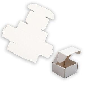 約40×40×25mm 5枚入 ギフトボックス 正方形 組み立て式 ホワイト / 白 箱 小箱 クラフトボックス アクセサリーボックス box ラッピング 材料 備品 プレゼント 包装【ゆうパケット対応】
