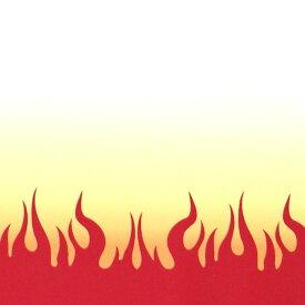 煉獄の炎模様 幅110cm 長さ10cm オックス生地 / 布 綿100% 白 ホワイト 生地 真紅 赤 あか 炎 ほのお 火 ひ メラメラ 手作り ハンドメイド材料 資材 【ゆうパケット対応】