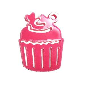 5cm アンシャンテラボ アクリルチャーム カップケーキ 厚さ:2mm 選べる豊富なカラー / アクセサリーパーツ バレンタイン ケーキ デコレーションケーキ 苺 いちご ピアス イヤリング ブレスレ