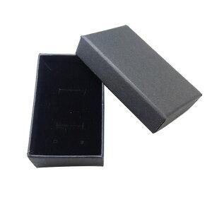 約81×50×26mm 1個入 ギフトボックス スポンジ付き ブラック / アクセサリーケース ジュエリーボックス クラフトボックス 紙 箱 小箱 ラッピング 材料 備品 プレゼント 包装【ゆうパケット対応