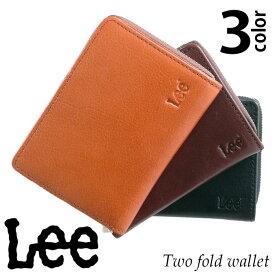 433a416ba1fd 【送料無料】 財布 二つ折り財布 Lee リー レザー 本革 牛革 メンズ レディース