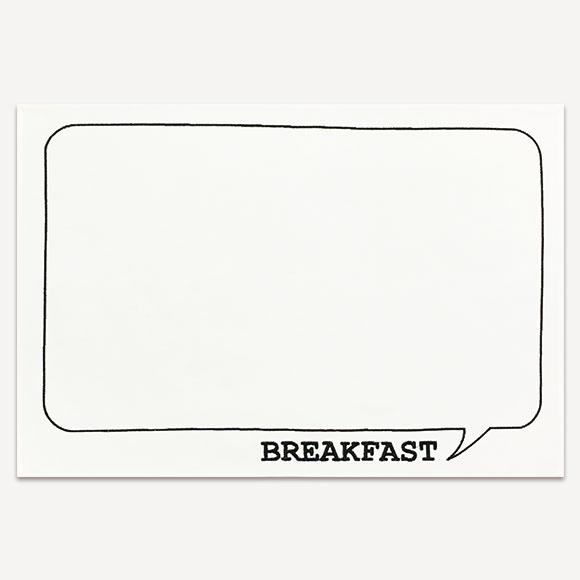 【SALE!70%OFF】LUNCH MAT BREAKFAST WHITEランチマット ブレックファースト ホワイトかわいい おしゃれ 新生活 ギフト プレゼントインテリア 雑貨 テーブルウェア キッチン