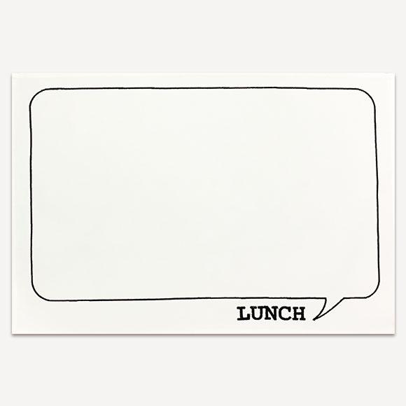 【SALE!70%OFF】LUNCH MAT LUNCH WHITEランチマット ランチ ホワイトかわいい おしゃれ 新生活 ギフト プレゼントインテリア 雑貨 テーブルウェア キッチン ランチ マット