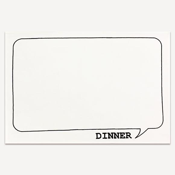 【SALE!70%OFF】LUNCH MAT DINNER WHITEランチマット ディナー ホワイトかわいい おしゃれ 新生活 ギフト プレゼントインテリア 雑貨 テーブルウェア キッチン