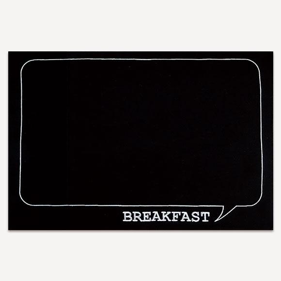 【SALE!70%OFF】LUNCH MAT BREAKFAST BLACKランチマット ブレックファースト ブラックかわいい おしゃれ 新生活 ギフト プレゼントインテリア 雑貨 テーブルウェア キッチン