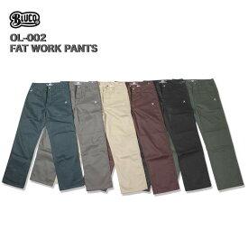 ☆送料無料☆BLUCO(ブルコ)OL-002 FAT WORK PANTS 全6色(ベージュ・ブラック・ブラウン・グレー・ネイビー・オリーブ)