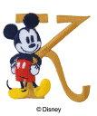 DISNEY ミッキーアルファベットワッペン「K」