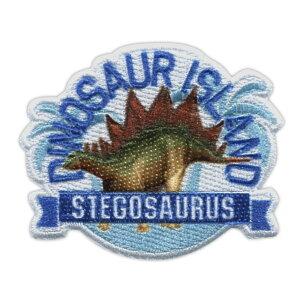 シール・アイロン接着両用ワッペン 「学研の図鑑 LIVE」 恐竜DINOSAUR ISLAND ステゴサウルス