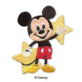 【DISNEY】ディズニー キャラクターミッキーマウス アイロン接着ワッペン