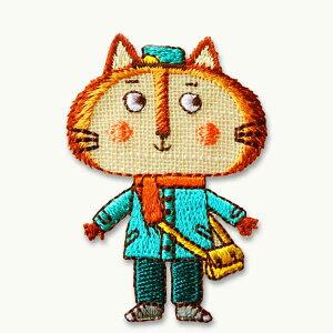 ワッペン(ILLUSTRATION/動物・ねこ猫) アイロン接着OK イラストちっくな動物のかわいいワッペン&アップリケ