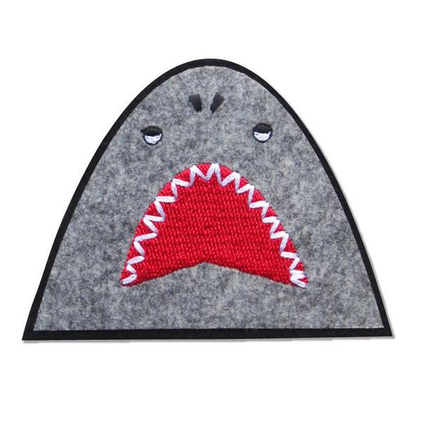 【ぽんめのこ】いつでもワッペン サメぬいつけワッペン
