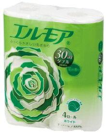 エルモアトイレットペーパーホワイト花の香り 30mダブル(2枚重ね) 4ロール